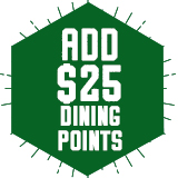 Add On Dining Points