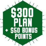 $300 Plan - Plus $50 FREE bonus points!