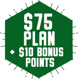 $75 Plan - Plus $10 FREE bonus points!